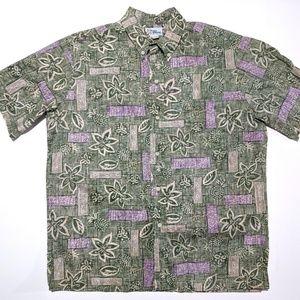 Reyn Spooner Mens L Short Sleeve Button Down Shirt